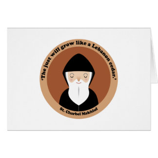 St. Charbel Makhluf Greeting Card