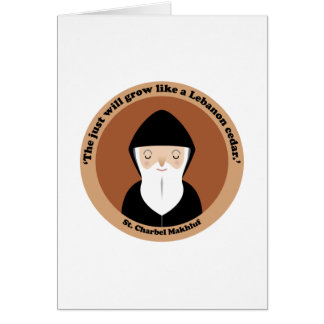 St. Charbel Makhluf Greeting Card