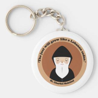 St Charbel Makhluf Keychains