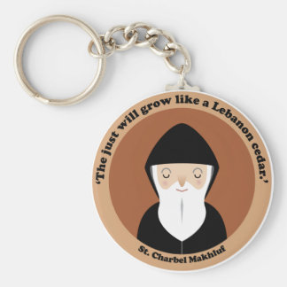 St. Charbel Makhluf Key Ring