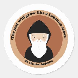 St Charbel Makhluf Round Sticker