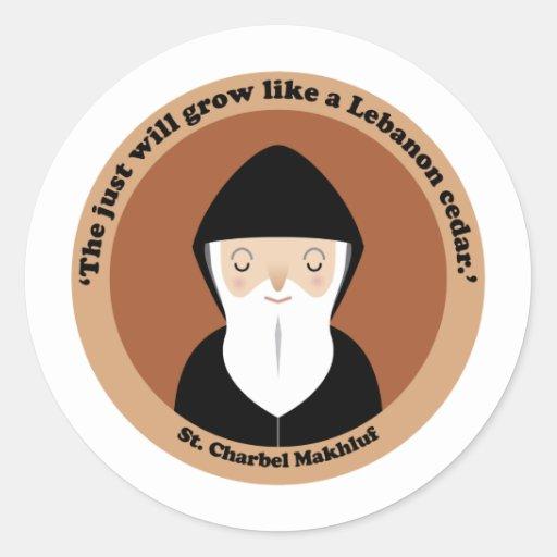 St. Charbel Makhluf Round Sticker