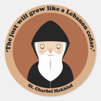 St Charbel Makhluf Round Stickers