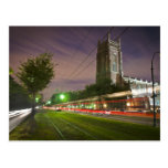 St Charles Avenue Streetcar at Night Post Cards
