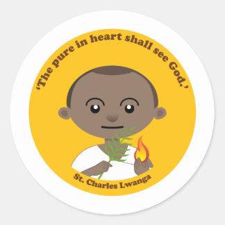 St. Charles Lwanga Classic Round Sticker