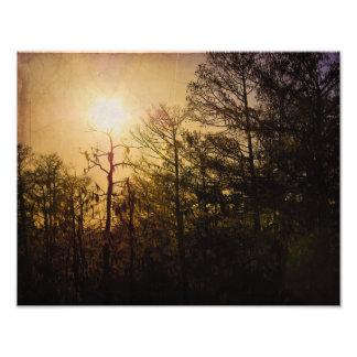 St Charles Parish Sunset Photographic Print