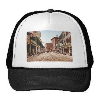 St. Charles Street New Orleans 1900 Mesh Hats