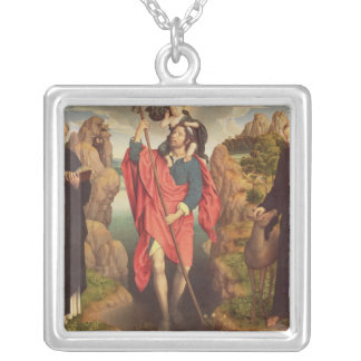 St. Christopher , 1484 Silver Plated Necklace