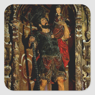 St. Christopher, 1597 Square Sticker