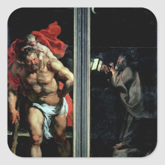St. Christopher and the Hermit Square Sticker