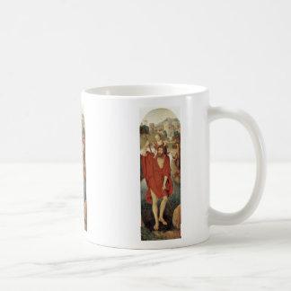 St. Christopher By Memling Hans Mugs