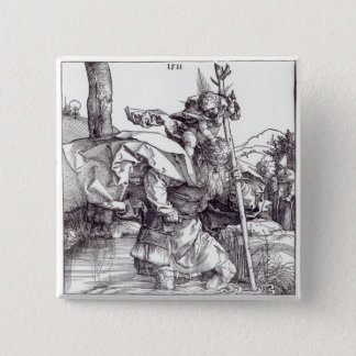 St.Christopher carrying the Infant Christ, 1511 15 Cm Square Badge