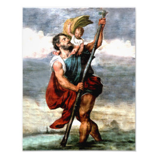 ST. CHRISTOPHER, PATRON SAINT OF TRAVELERS, PHOTO PRINT