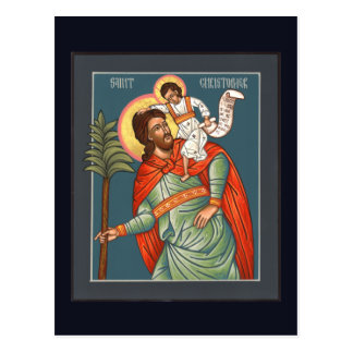 St. Christopher Prayer Card Postcard