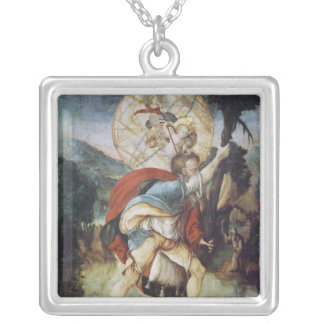 St. Christopher Silver Plated Necklace