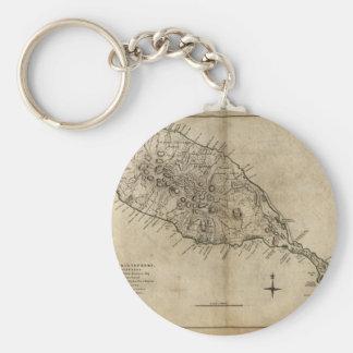 St. Christopher (St. Kitts), Caribbean Map Key Ring