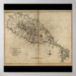 St. Christopher (St. Kitts), Caribbean Map Poster