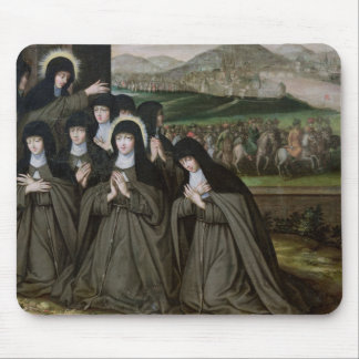 St. Claire with her Sister, Agnes and Nuns Mouse Mat