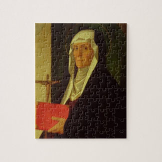 St. Clare, c.1485-90 (tempera on panel) Jigsaw Puzzle