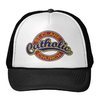 St. Clare Catholic Church Blue on Red Mesh Hats