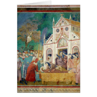 St. Clare Embraces the Body of St. Francis Greeting Card