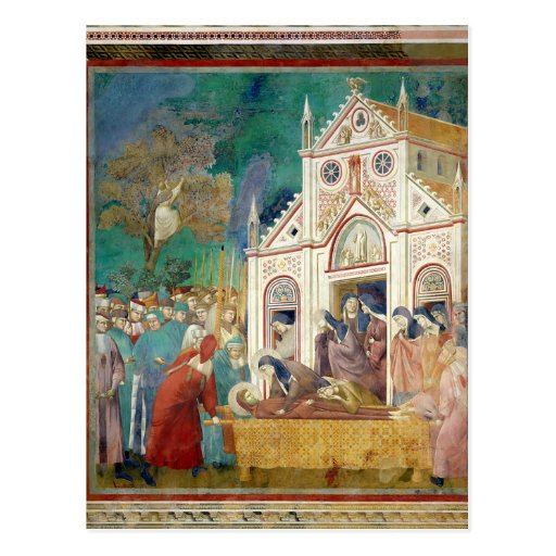 St. Clare Embraces the Body of St. Francis Post Cards