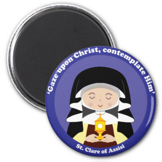 St. Clare of Assisi 6 Cm Round Magnet