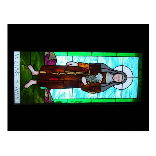 St. Clare of Assisi postcard