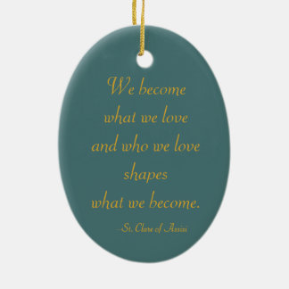 St. Clare of Assisi (SAU 027) Christmas Ornament