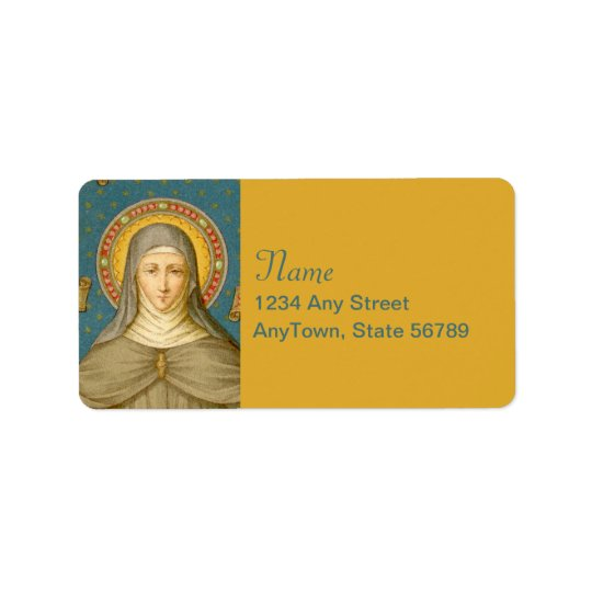 St. Clare of Assisi (SAU 027) Label