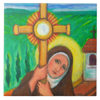 """St Clare of Assisi"" Tile"