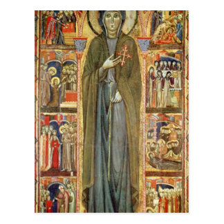 St. Clare with Scenes from her Life Postcard