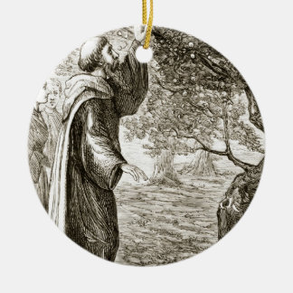 St. Columba changes bitter fruit into sweet, from Christmas Ornament