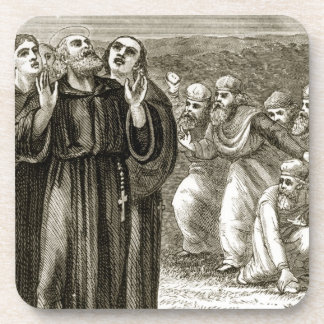 St. Columba chanting, and attacked by the Druids, Coasters