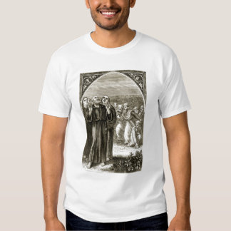 St. Columba chanting, and attacked by the Druids, Tee Shirt