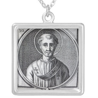 St. Cornelius Silver Plated Necklace