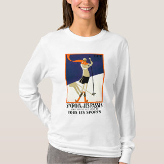 St. Croix Switzerland Skiing Poster T-Shirt
