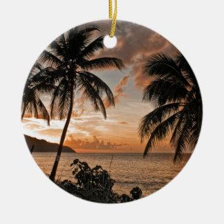 St. Croix VI Sunset Christmas Ornament