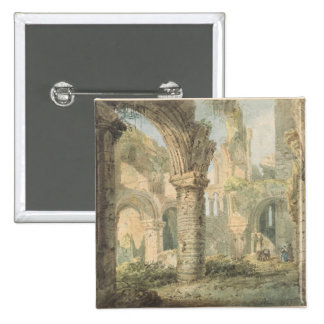 St. Cuthbert's Holy Island, 1797 (w/c over pencil 15 Cm Square Badge