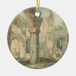 St. Cuthbert's Holy Island, 1797 (w/c over pencil Round Ceramic Decoration