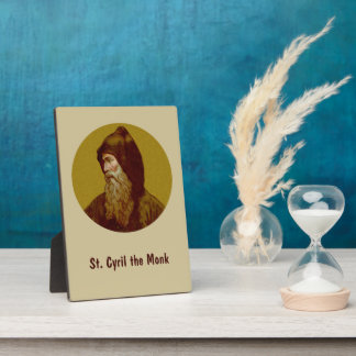 "St. Cyril the Monk  (M 002) 5""x7"" Vertical Plaque"