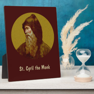 "St. Cyril the Monk (M 002) 8""x10"" Vertical Display Plaques"