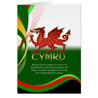 St David s Day Card - Welsh Dragon And National A