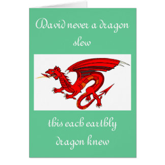 St. David & the Dragons Greeting Card
