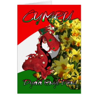 St. David's Day Card, St David's Day, Dydd Gwyl De Greeting Card