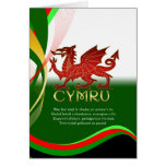 St. David's Day Card - Welsh Dragon And National A