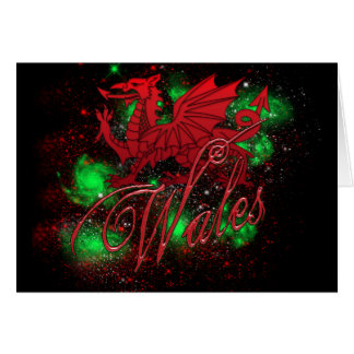 St. David's Day Card, With Wales And Dragon Greeting Card