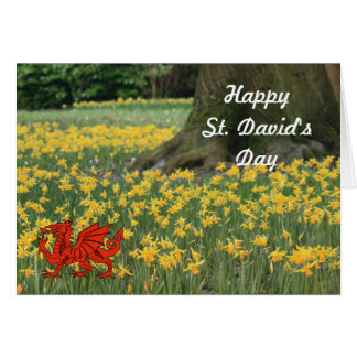 St. David's Day Daffodils Card