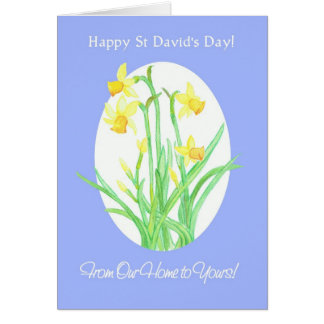 St David's Day Daffodils, From Our Home to Yours Card