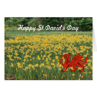 St. David's Day Daffodils Greeting Card